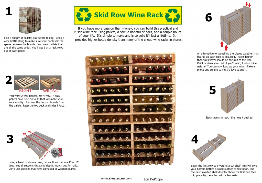 Skid Row Wine Rack